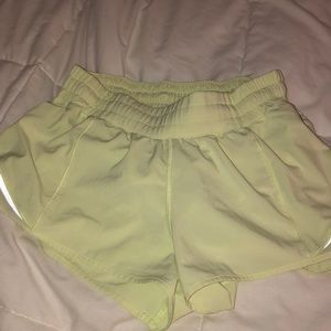 Neon Yellow Lululemon Shorts